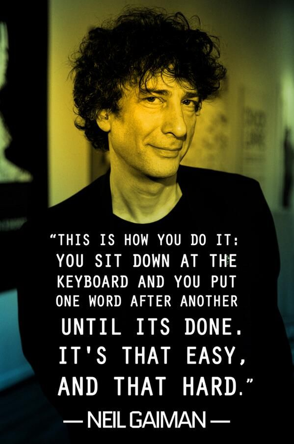 Neil Gaiman this is how you do it