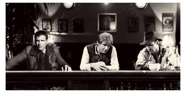 A bounty hunter, a smuggler and an archaeologist walk into a bar